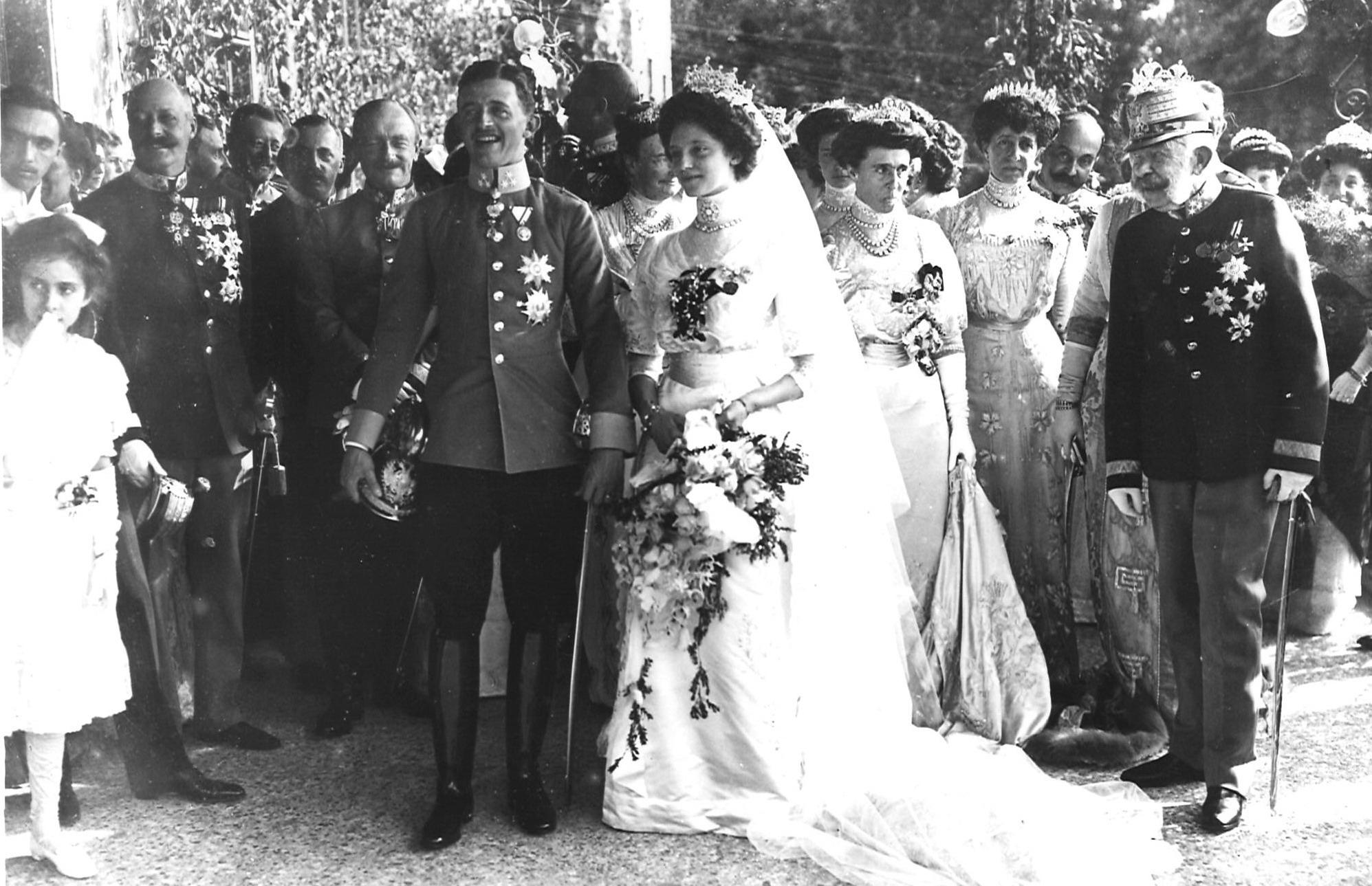 """""""Erzherzog Karl und Zita: Hochzeit im Hause Habsburg am 21. Oktober 1911"""""""